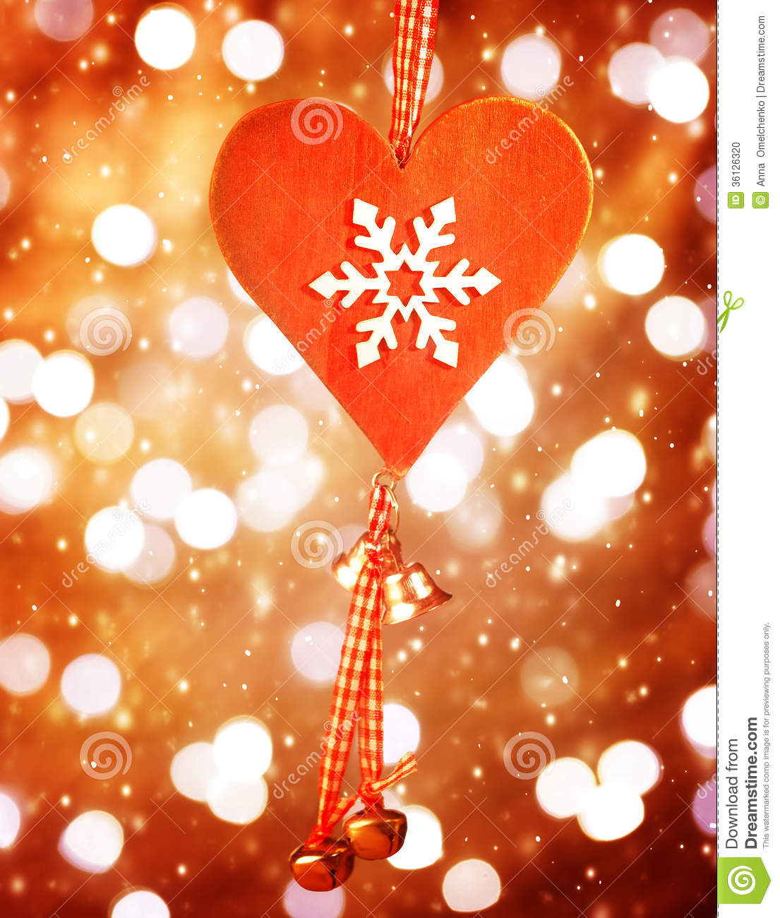 Heart shaped decor for christmas stock photo image 36126320 for Heart shaped decorations home