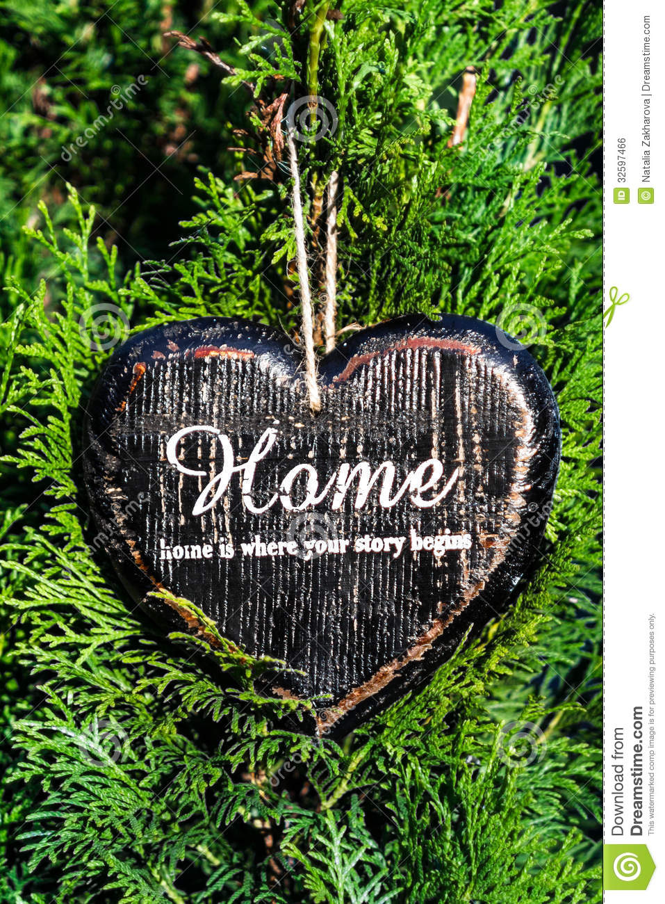 Heart Shaped Decor Sign Desk Home Country Style On Green