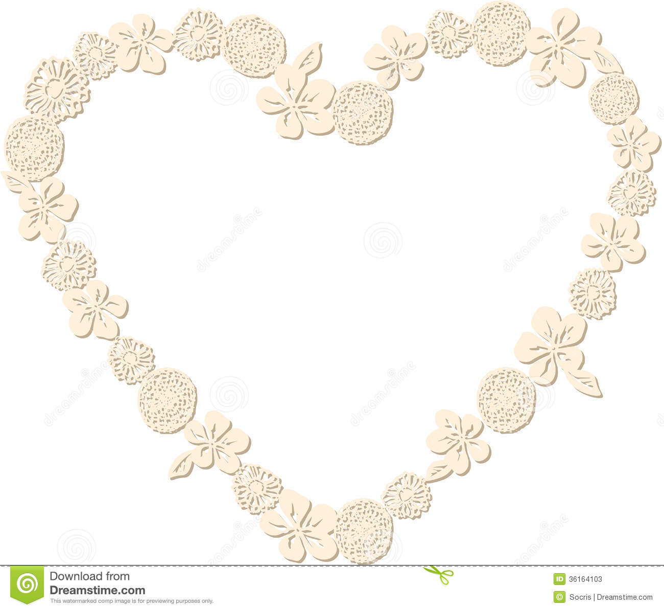 heart shaped flower frame stock photos