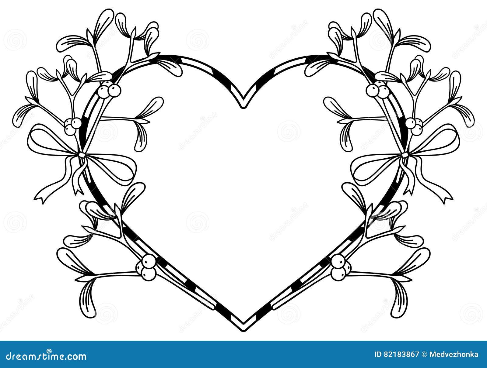 Heart shaped frame and mistletoe stock image image of loop royalty free stock photo buycottarizona Image collections