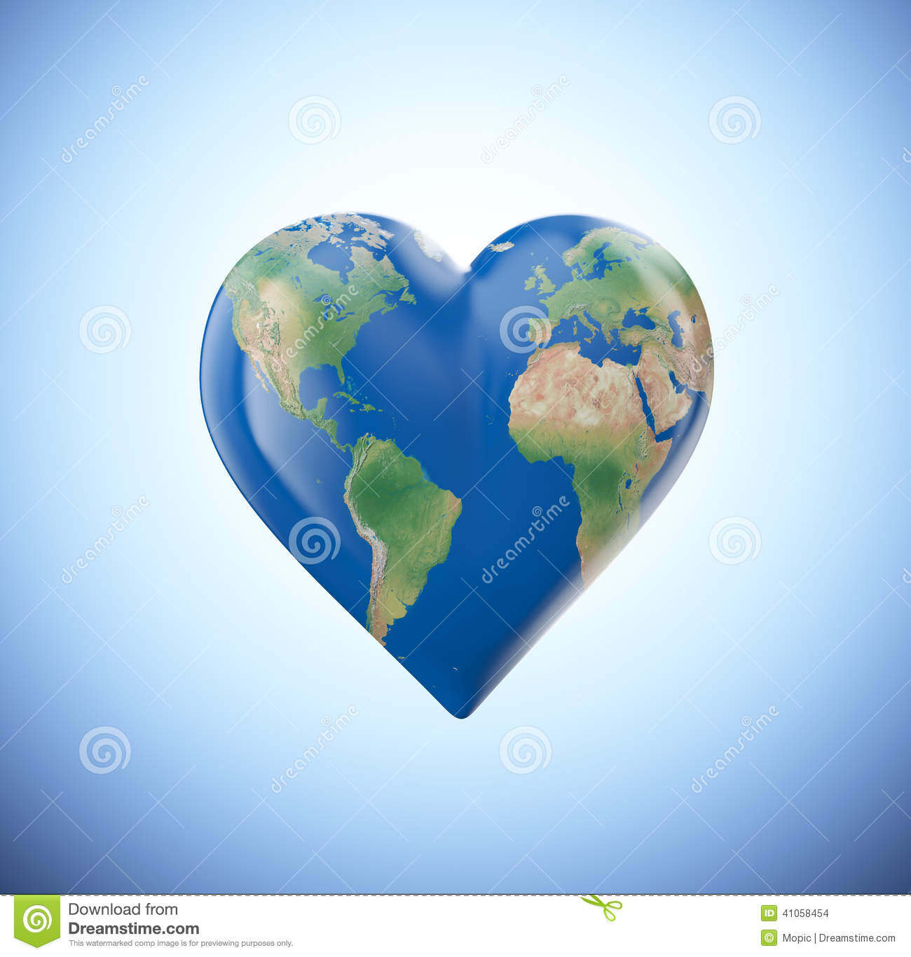 Heart shaped globe stock illustration illustration of nature heart shaped globe gumiabroncs Image collections
