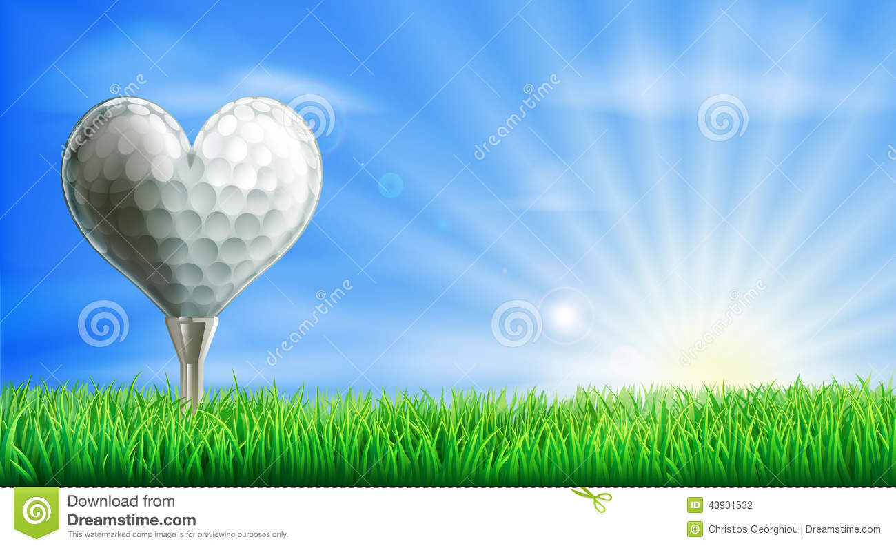 Heart shaped golf ball