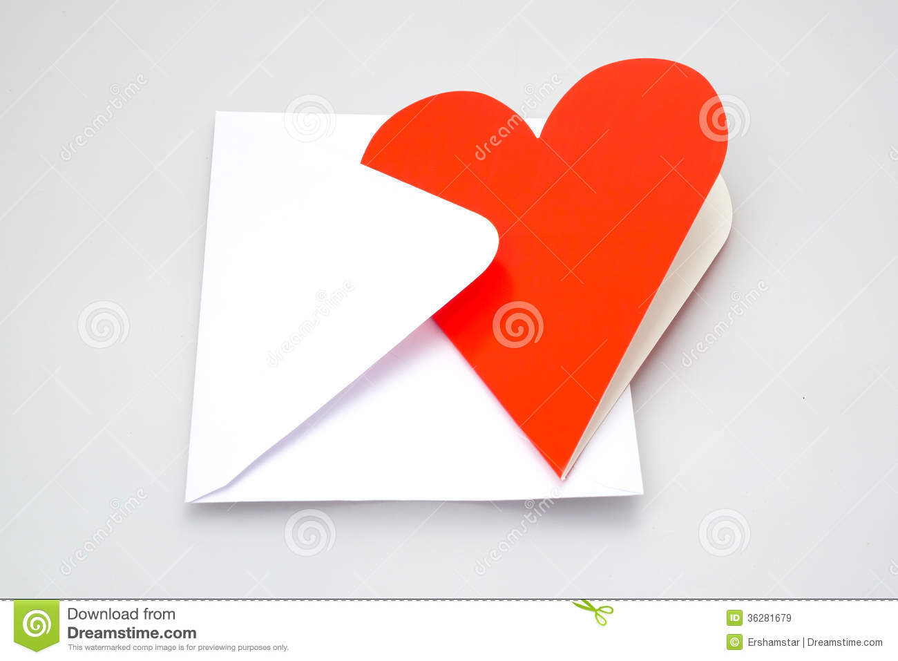 Heart shaped greeting card and envelope stock image image of heart shaped greeting card and envelope m4hsunfo