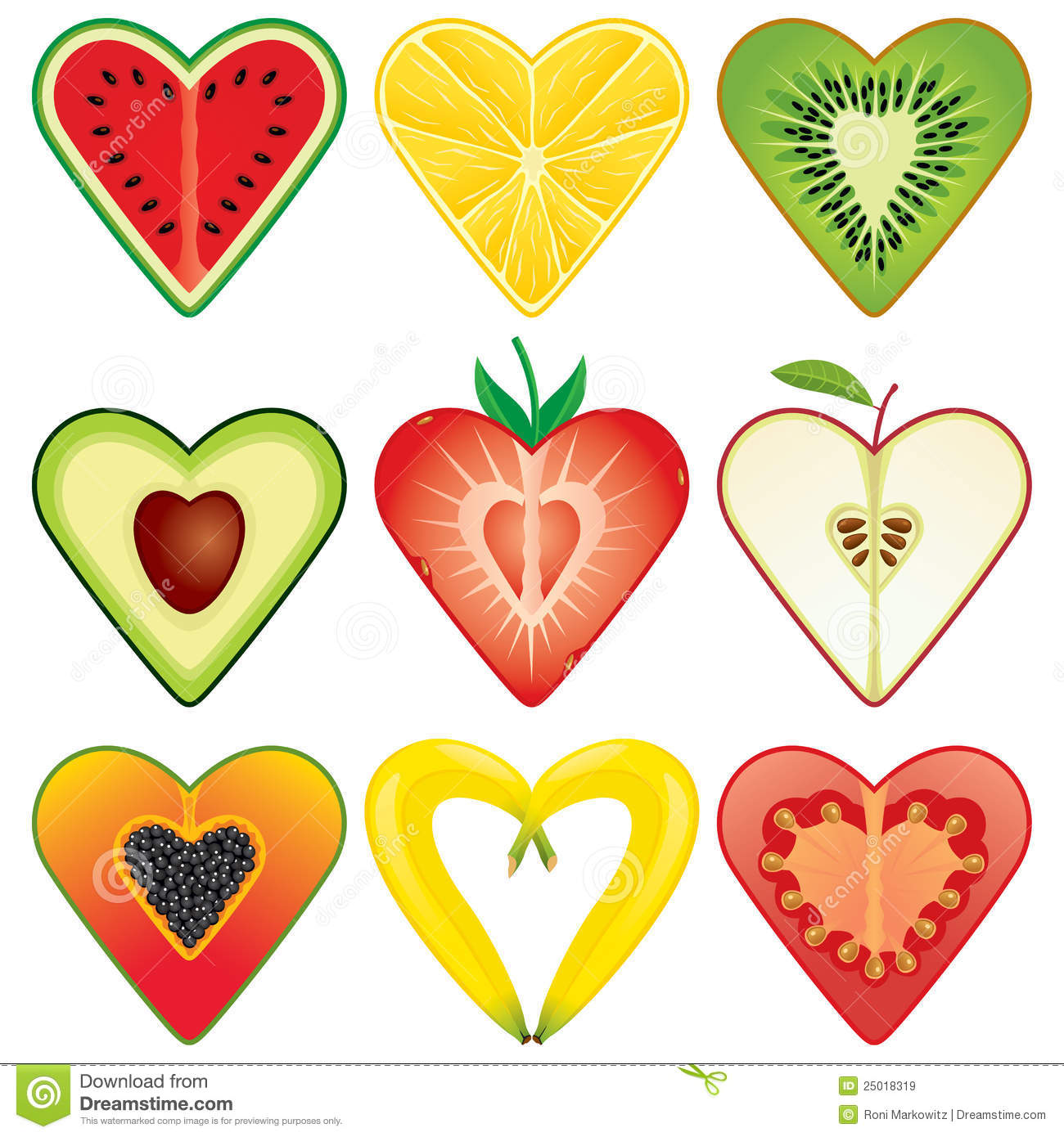 healthy fruits for the heart colorful fruit