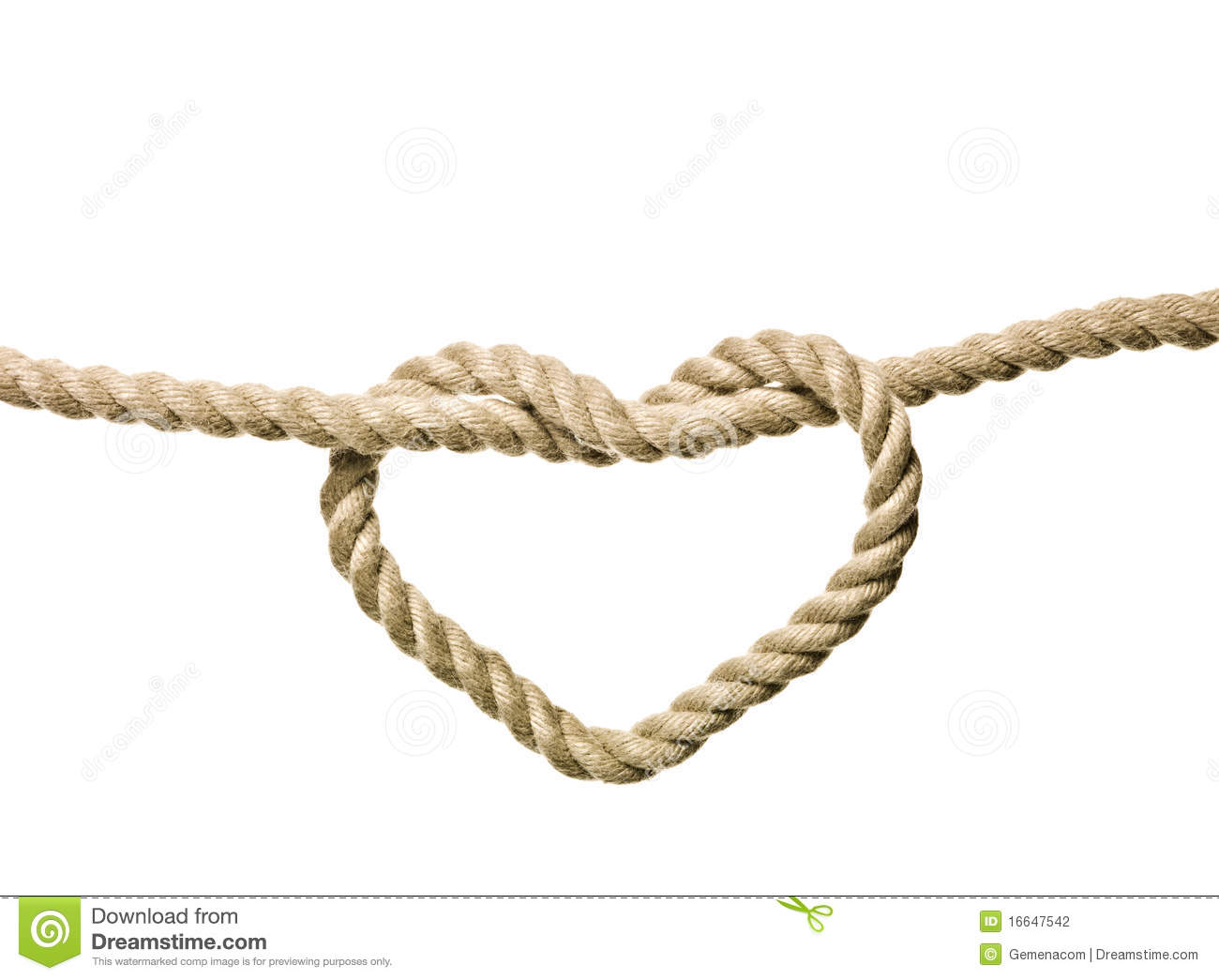 Heart Shaped Knot Stock Photography - Image: 16647542