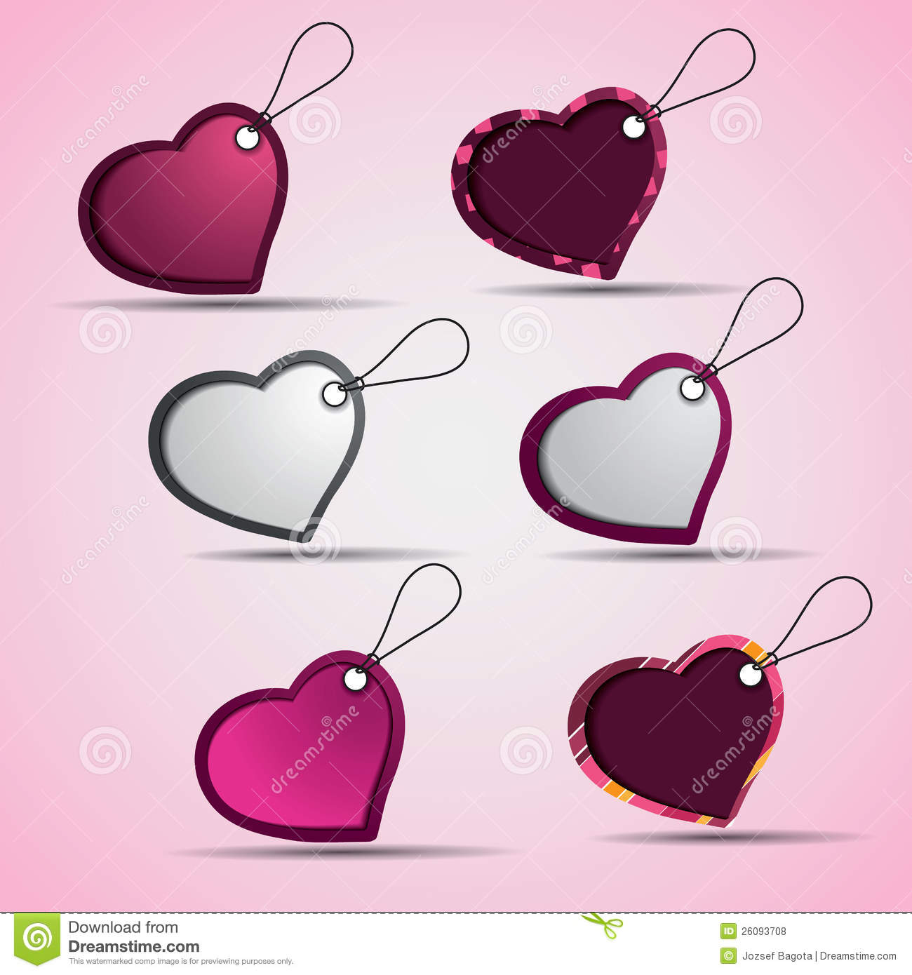 Heart Shaped Labels And Tags Royalty Free Stock Photos - Image ...