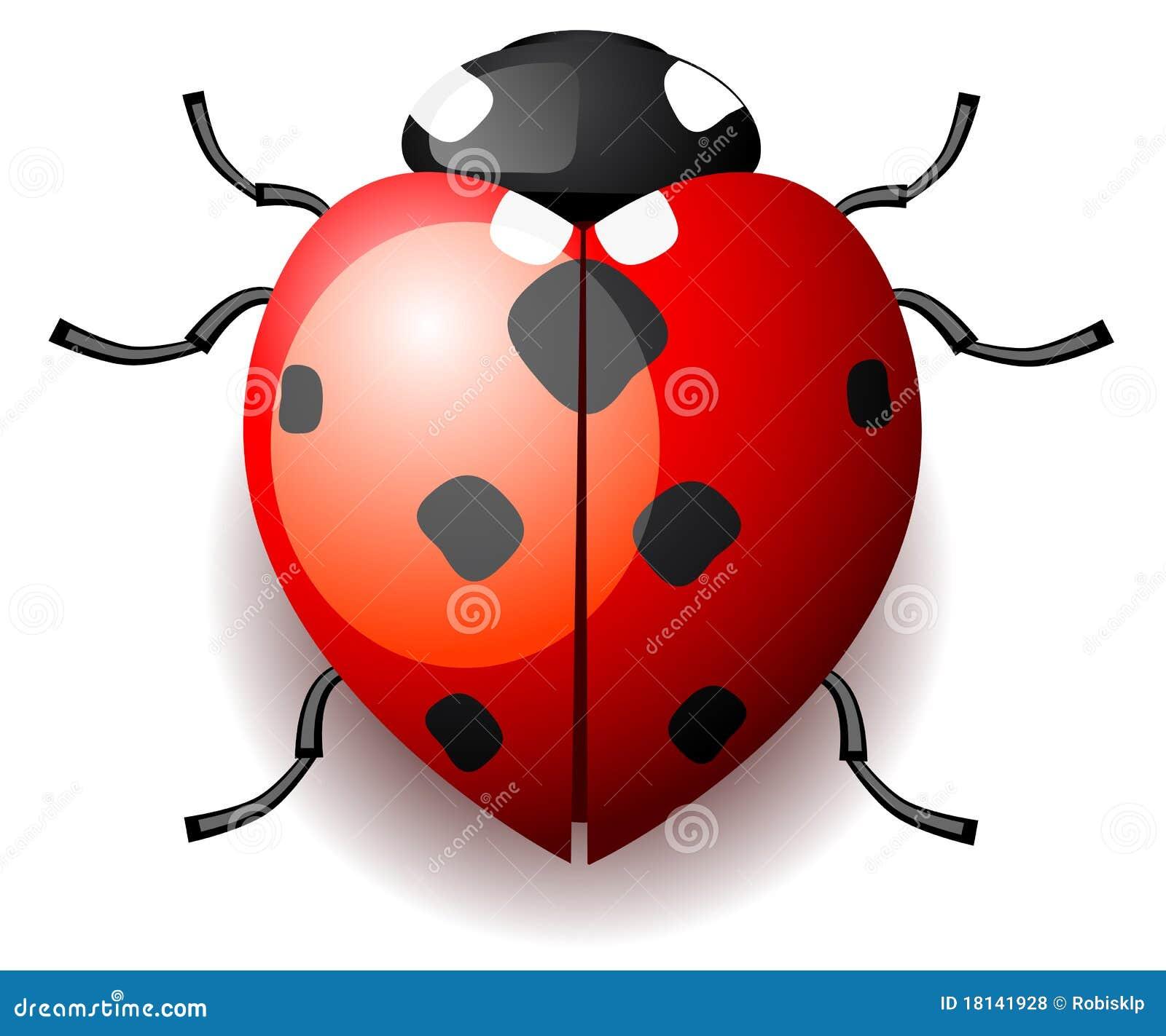 Heart Shaped Ladybug Cake