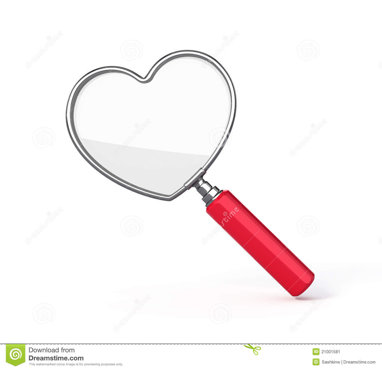 Heart Shaped Magnifying Glass Stock Image - Image: 21001581