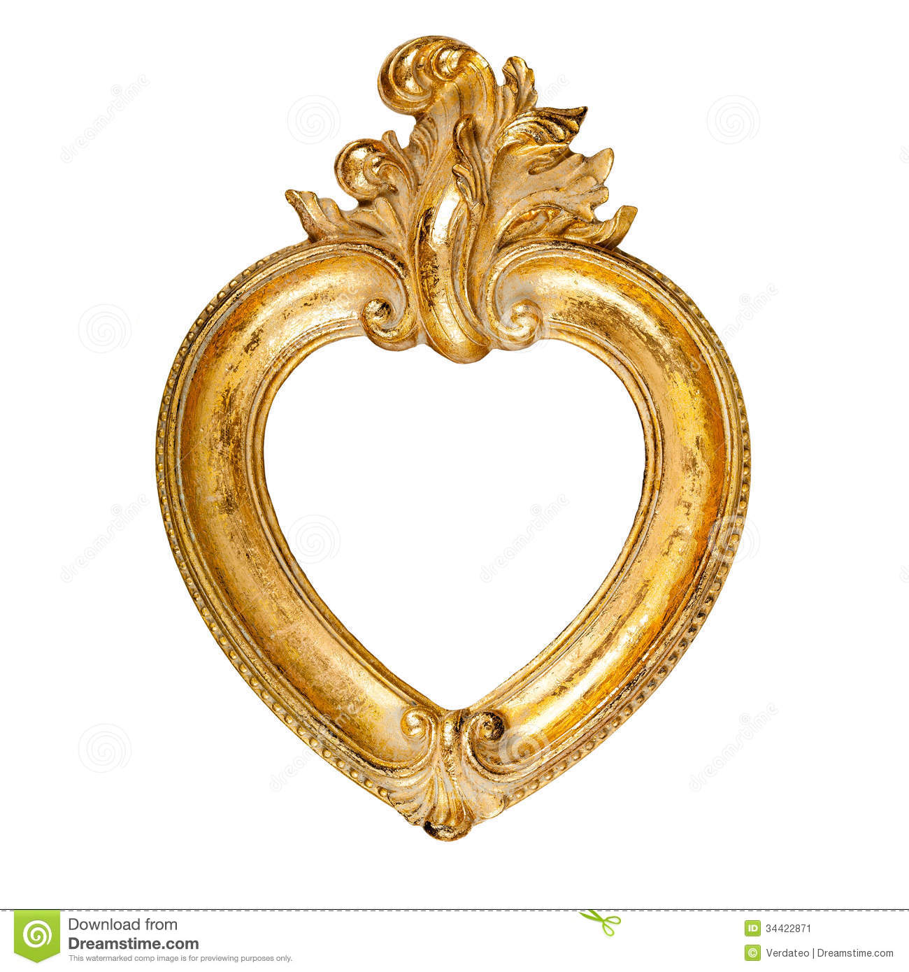 Heart shaped picture frame stock image. Image of fashioned - 34422871