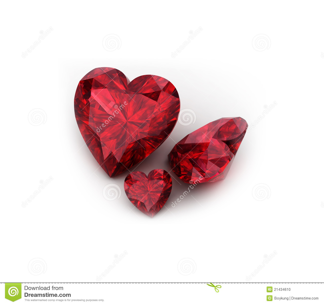 Heart Shaped Ruby Gemstone Stock Photo Image 21434610