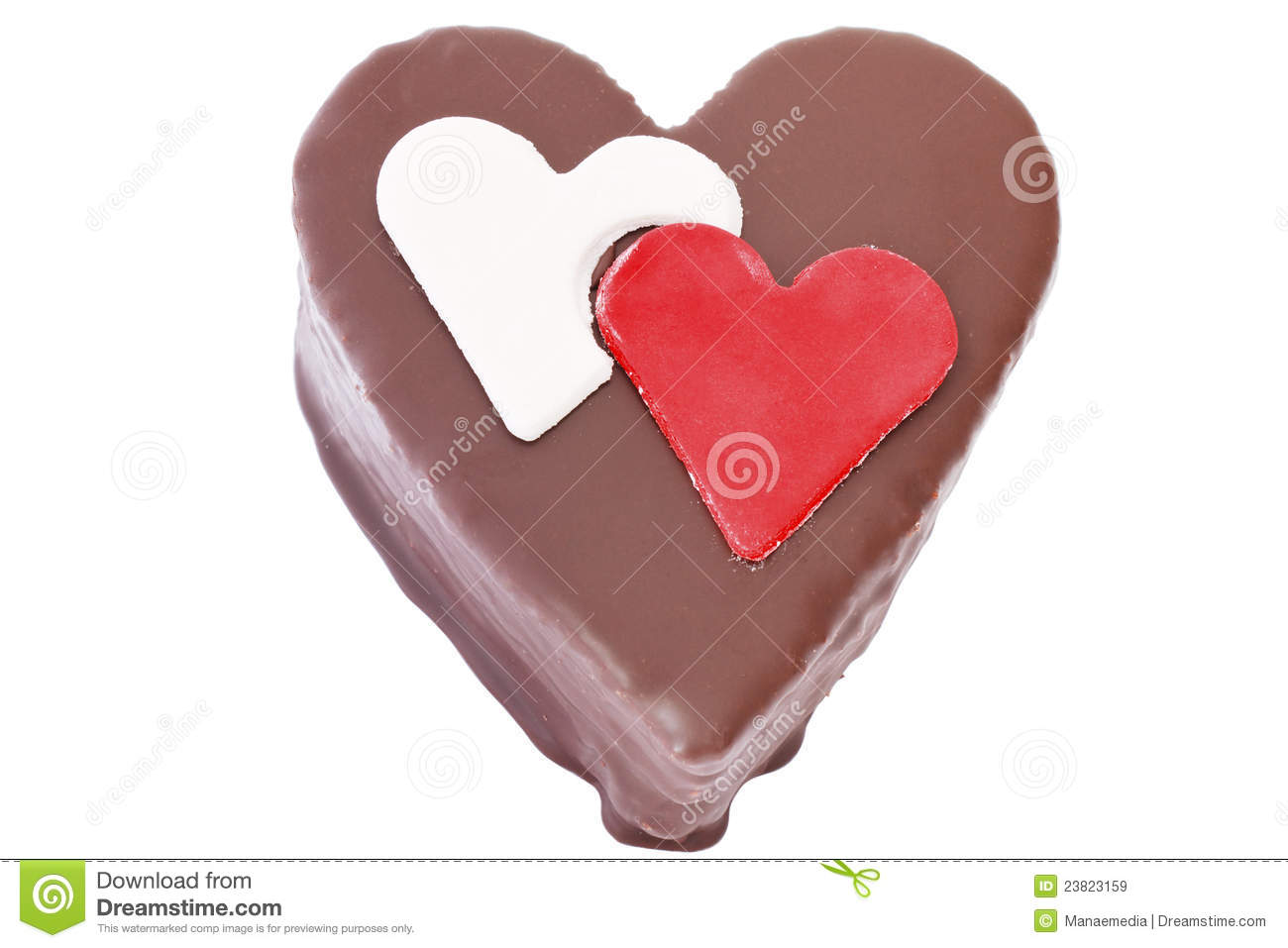 Heart Shaped Cake Stock Photos : Heart Shaped Slice Of A Chocolate-cake Royalty Free Stock ...