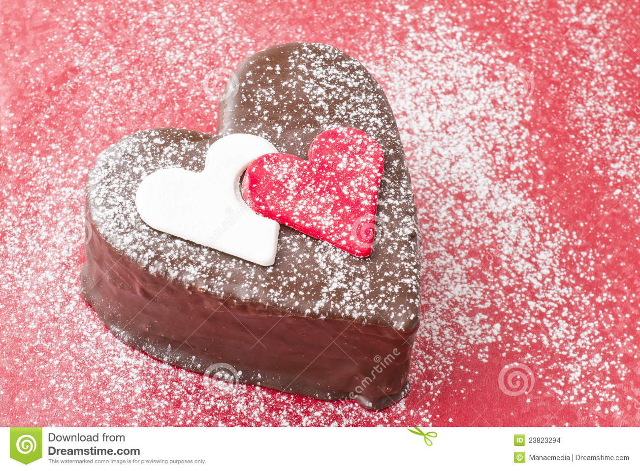 Heart Shaped Cake Stock Photos : Heart Shaped Slice Of A Chocolate-cake Stock Photo - Image ...