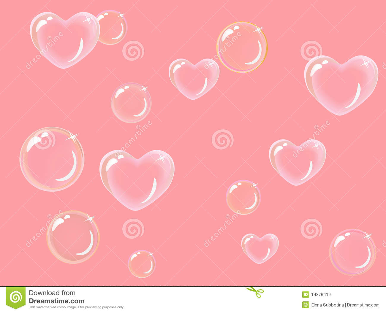 Heart-shaped Soap Bubbles Royalty Free Stock Images - Image: 14876419