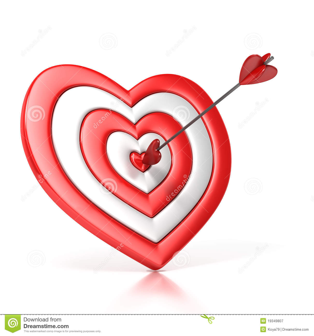 Heart shaped target with the arrow in the center stock illustration royalty free stock photo thecheapjerseys Choice Image