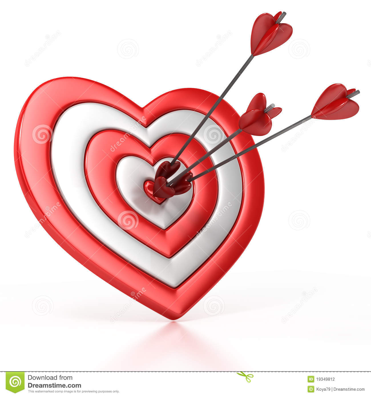Heart shaped target with the arrow in the center stock illustration heart shaped target with the arrow in the center dart bull altavistaventures Images