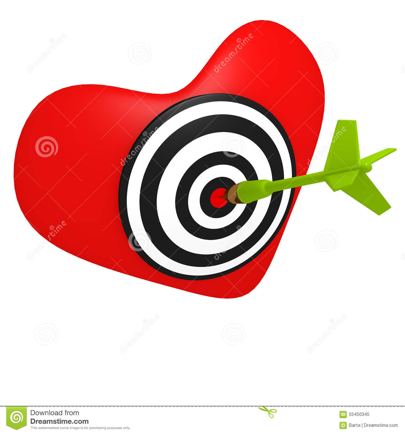 Heart shaped bullseye stock vector illustration of archery 37725053 heart shaped target royalty free stock photo altavistaventures Images