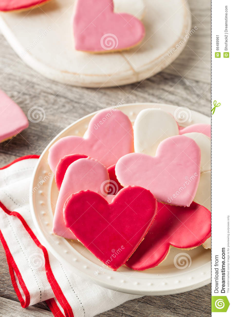 Heart Shaped Valentine S Day Sugar Cookies Stock Image Image Of