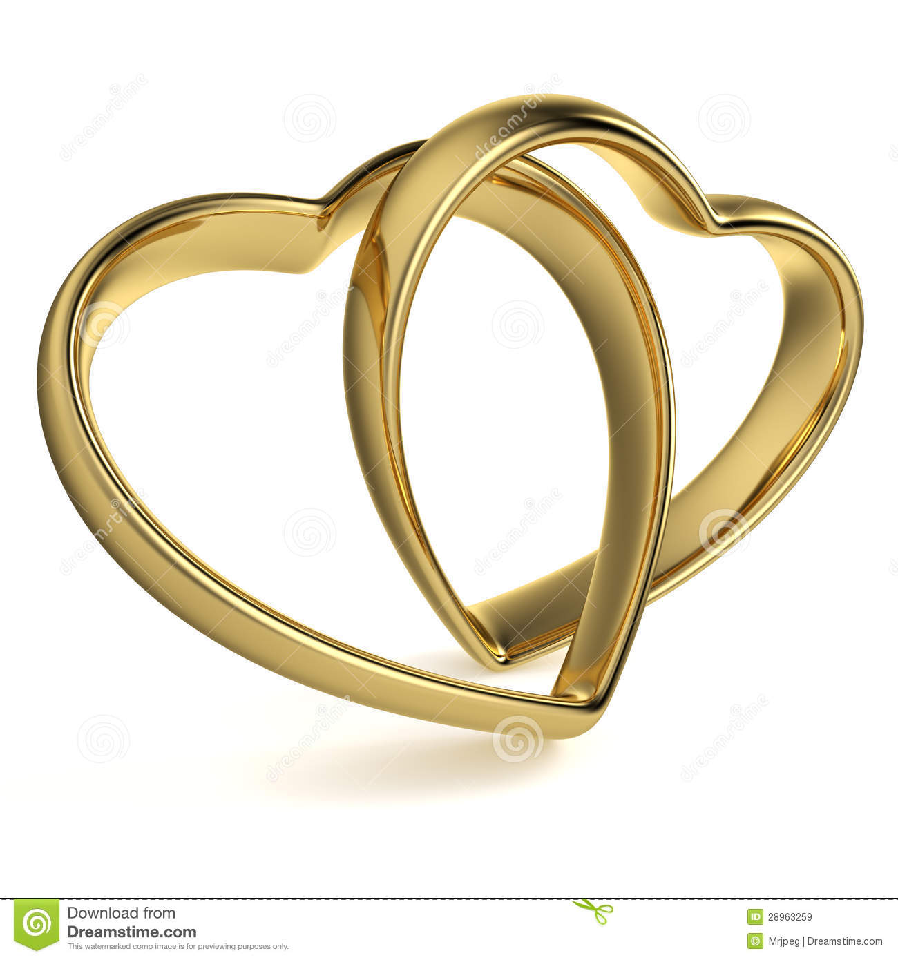 Heart Shaped Wedding Rings Stock Illustrations 108 Heart Shaped