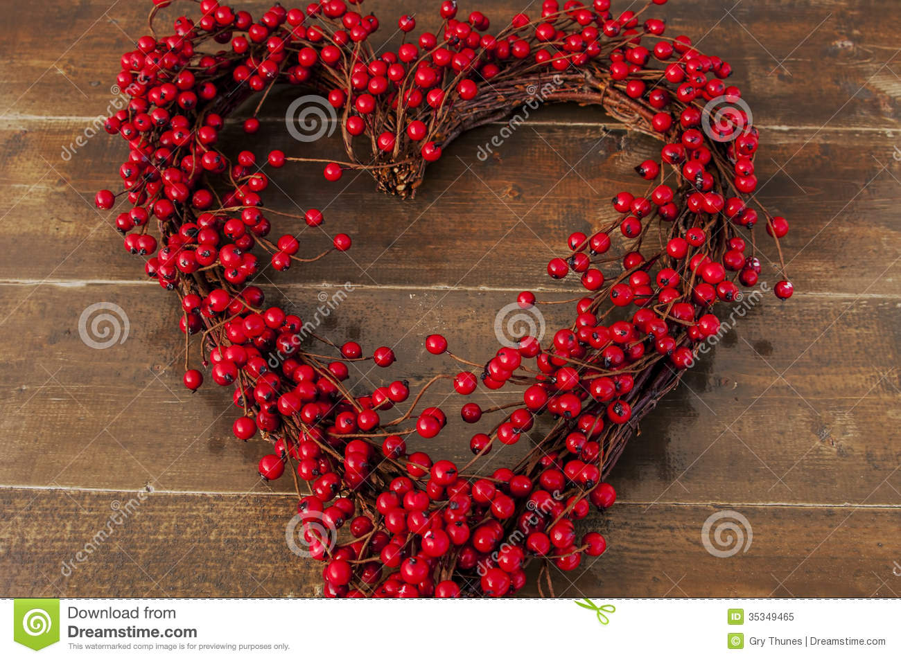 Heart shaped wreath royalty free stock photo image