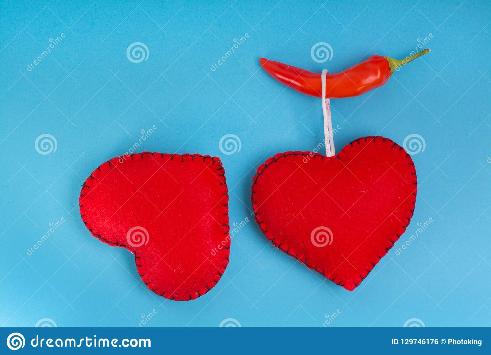Heart sign with red pepper