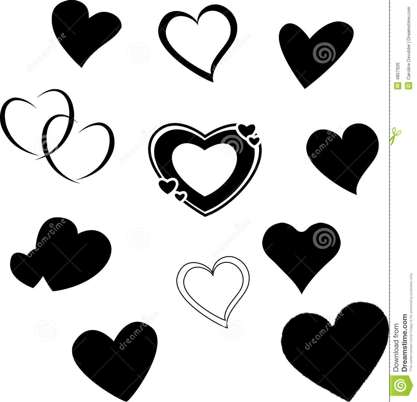 Heart Silhouettes Royalty Free Stock Image - Image: 4857926