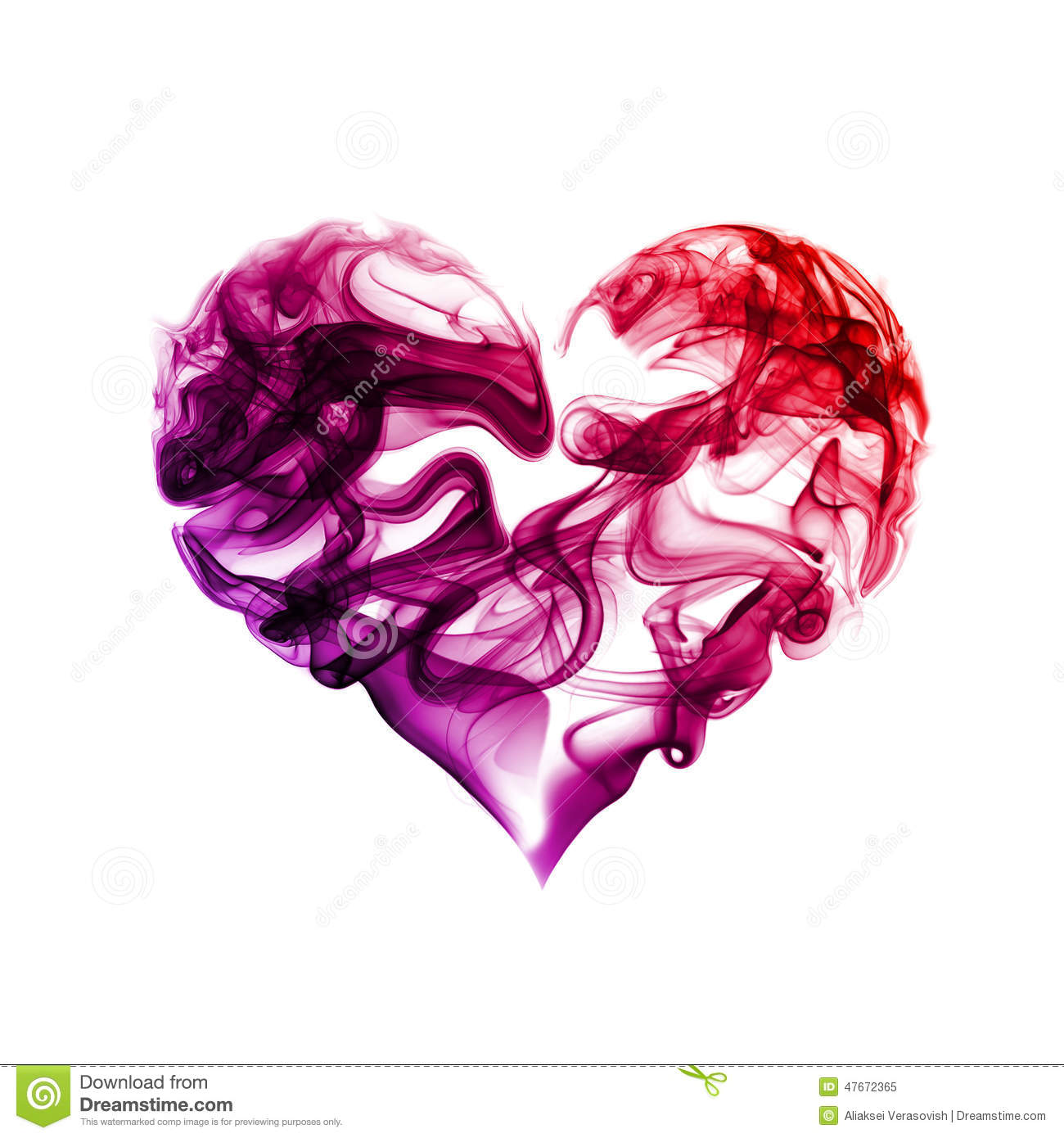 Heart of smoke stock image  Image of colored, flowing - 47672365