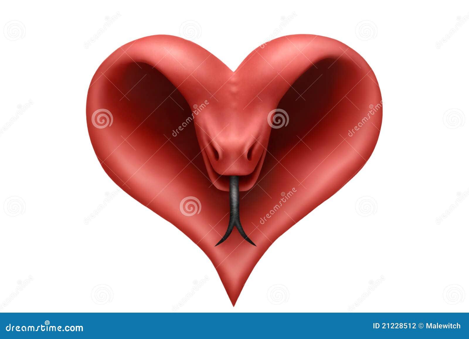 Heart Snake Stock Photography - Image: 21228512