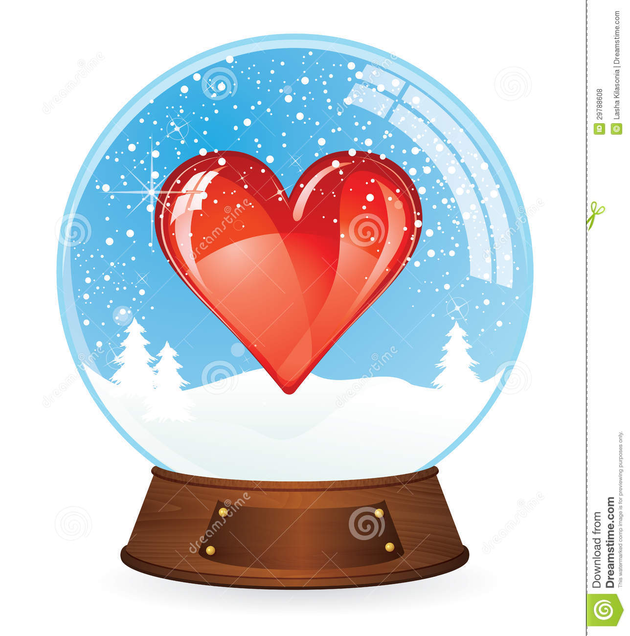 Heart In Snow Globe Royalty Free Stock Photos - Image: 29788608