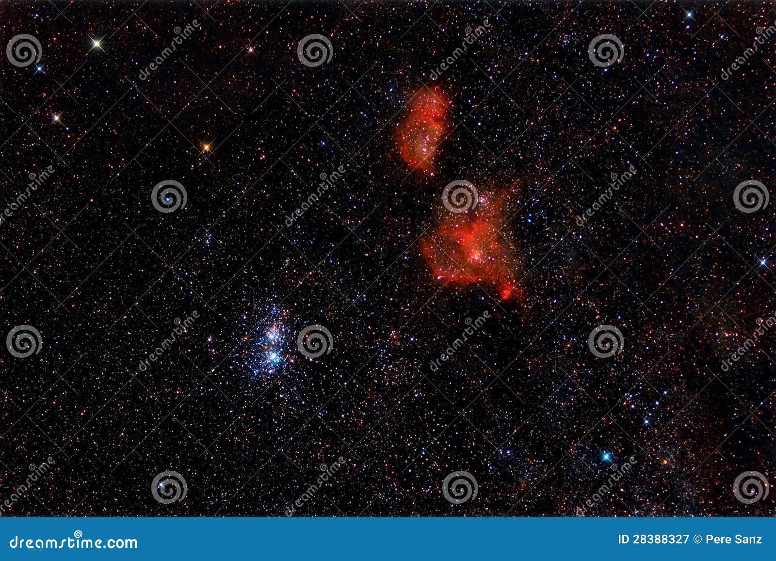 Heart and Soul Nebula stock image. Image of infinite ...