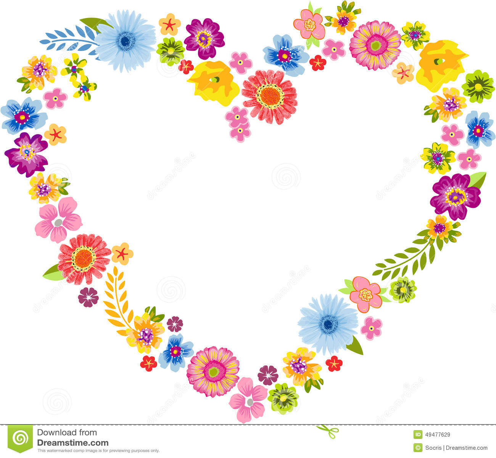 M Letter In Heart Heart Spring Flower Fr...