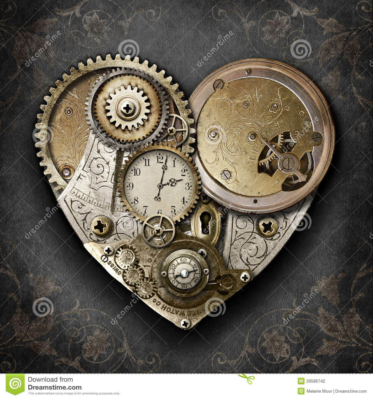 Heart Of Steampunk Stock Photography Image 29586742