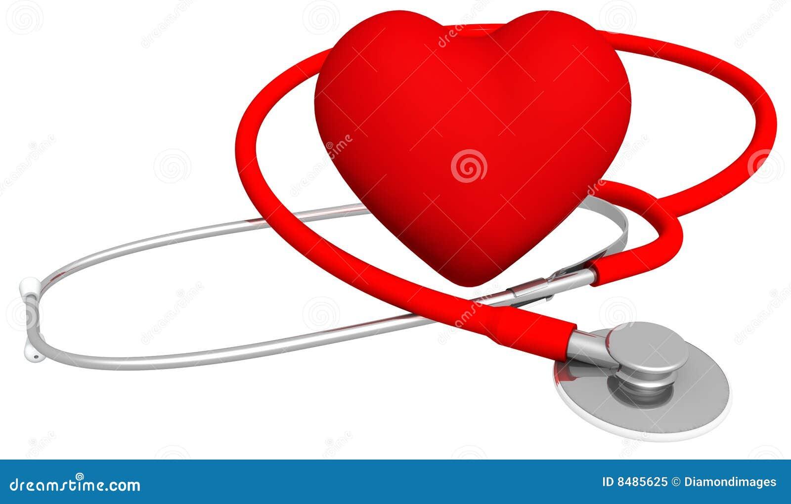 Download Heart & Stethoscope stock illustration. Illustration of embracing - 8485625