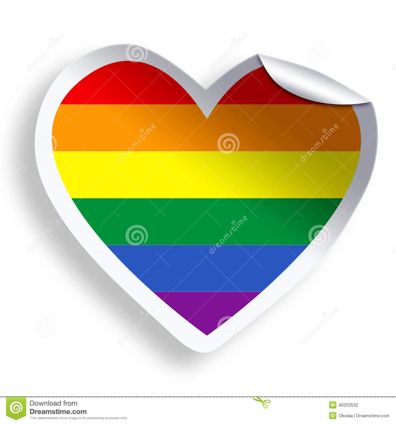 how to draw a lgbt heart