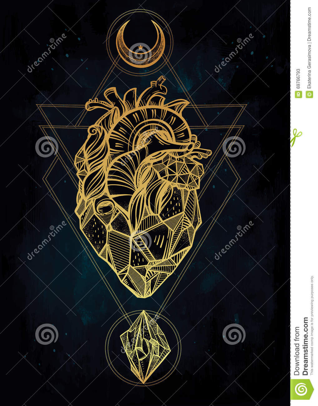 heart of stone vector art stock vector image 69766793. Black Bedroom Furniture Sets. Home Design Ideas