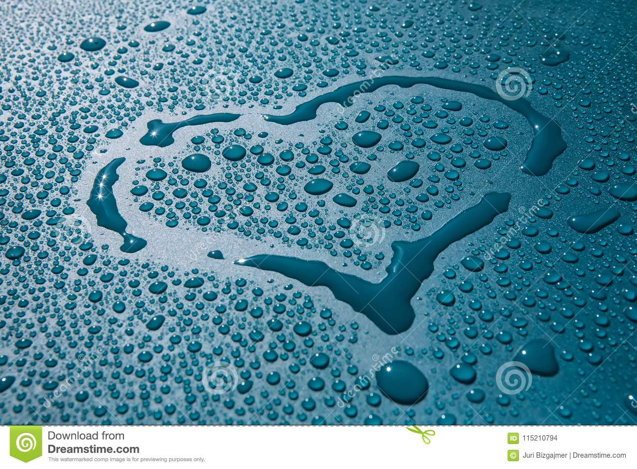 Heart Symbol Blood Drop Water Stock Photo Image Of Nature Clear