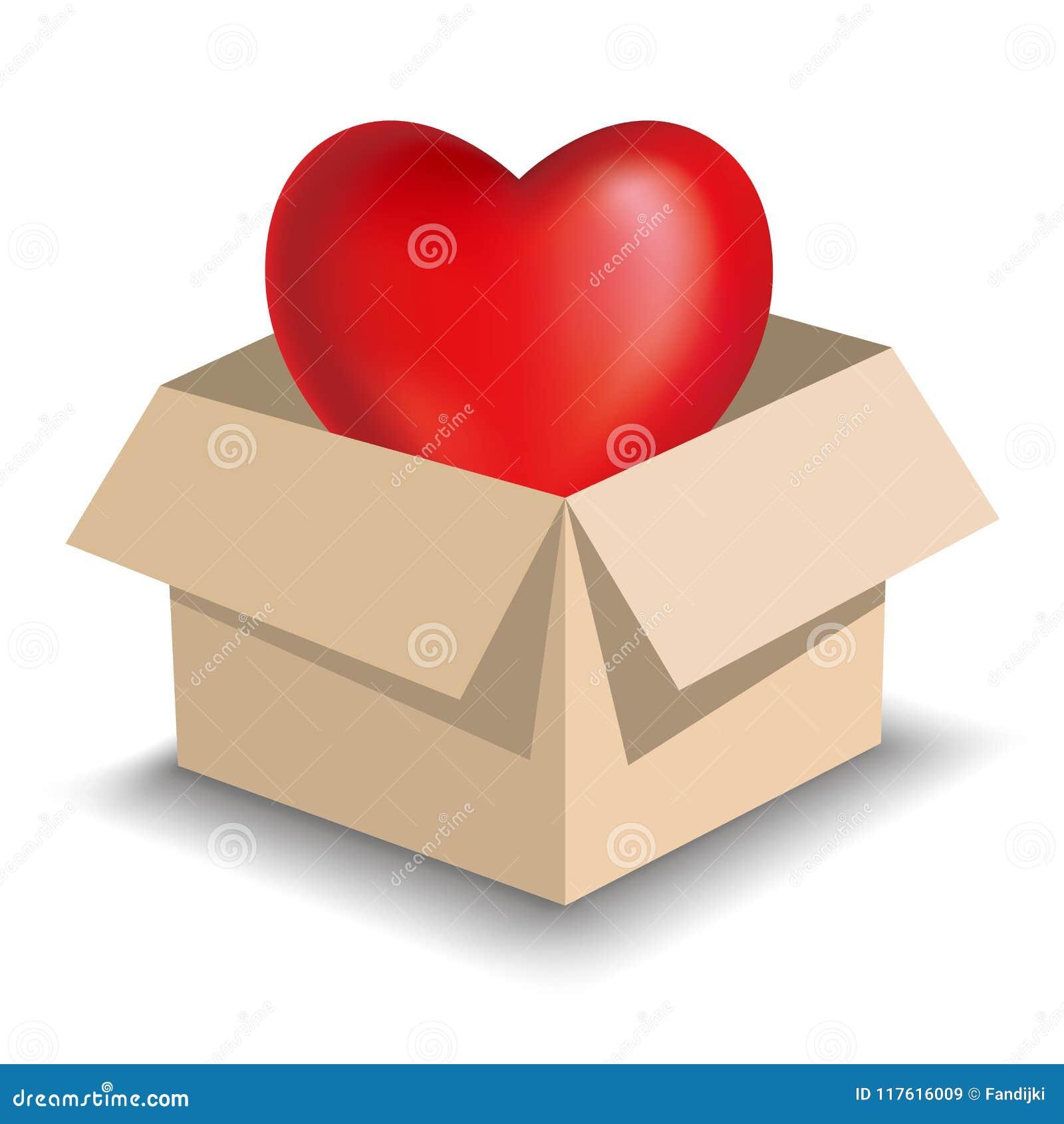 Heart Symbol In Brown Carton Heart Shaped Symbols Use Grid