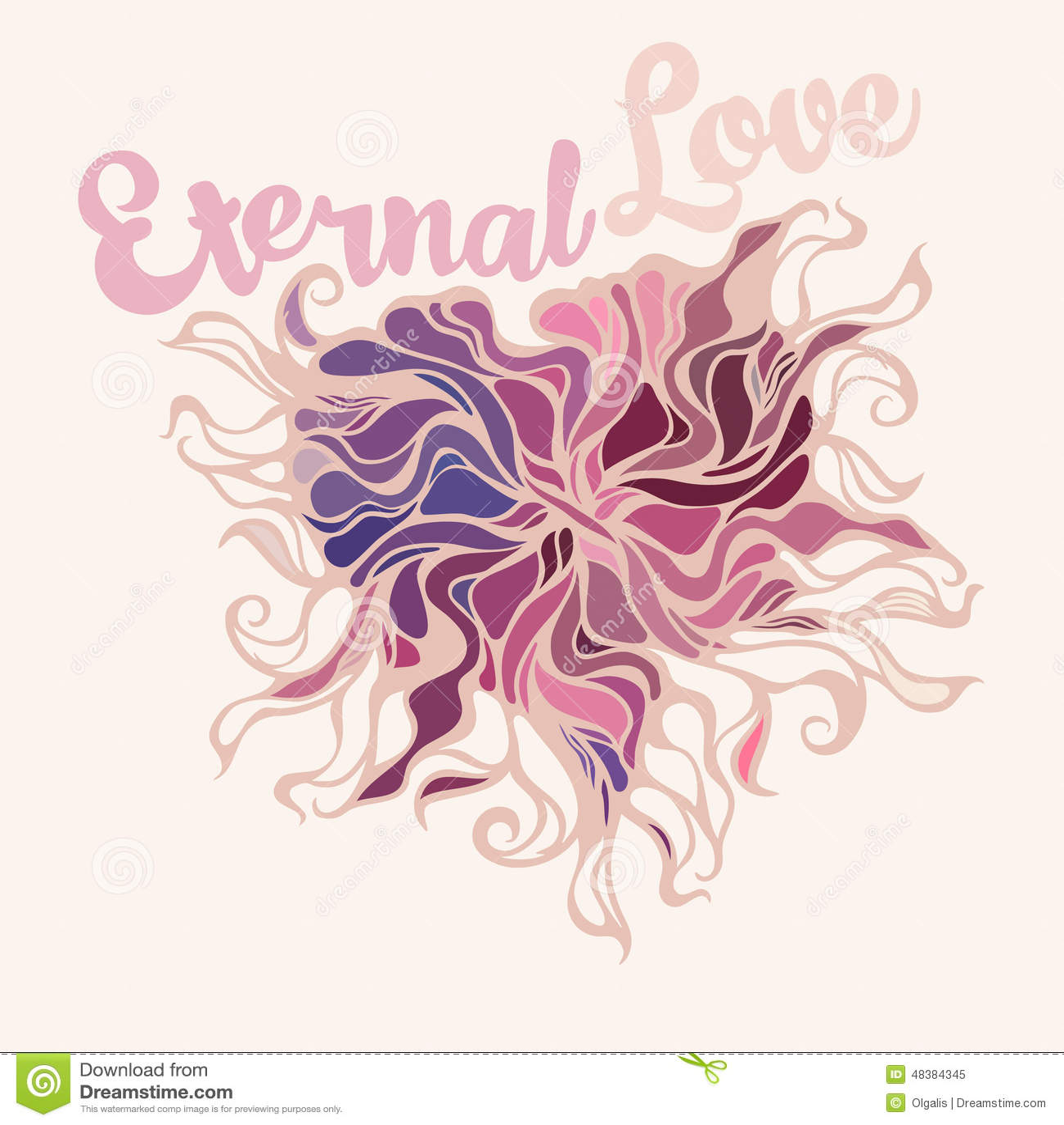 Heart Symbol Of Eternal Love Stock Vector Illustration Of Abstract