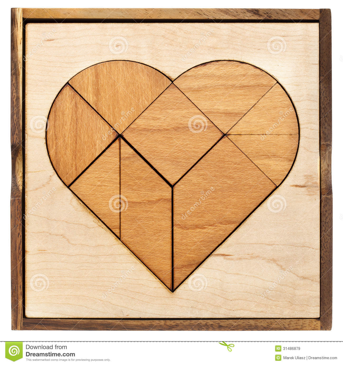 of tangram, a traditional Chinese Puzzle Game made of different wood ...