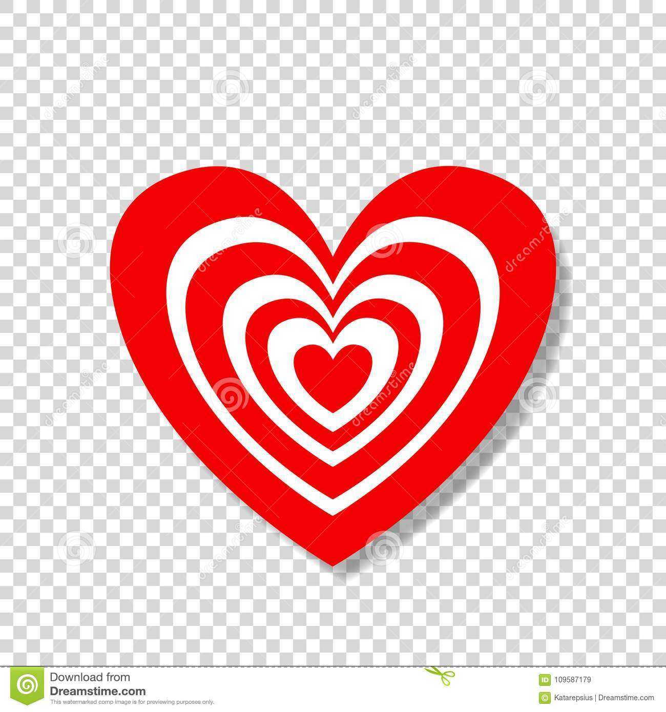 Heart Target Abstract Concept Happy Valentines Day Vector Illustration Icon Clip Art On Transparent Background Love Aim Logo Stamp Sticker