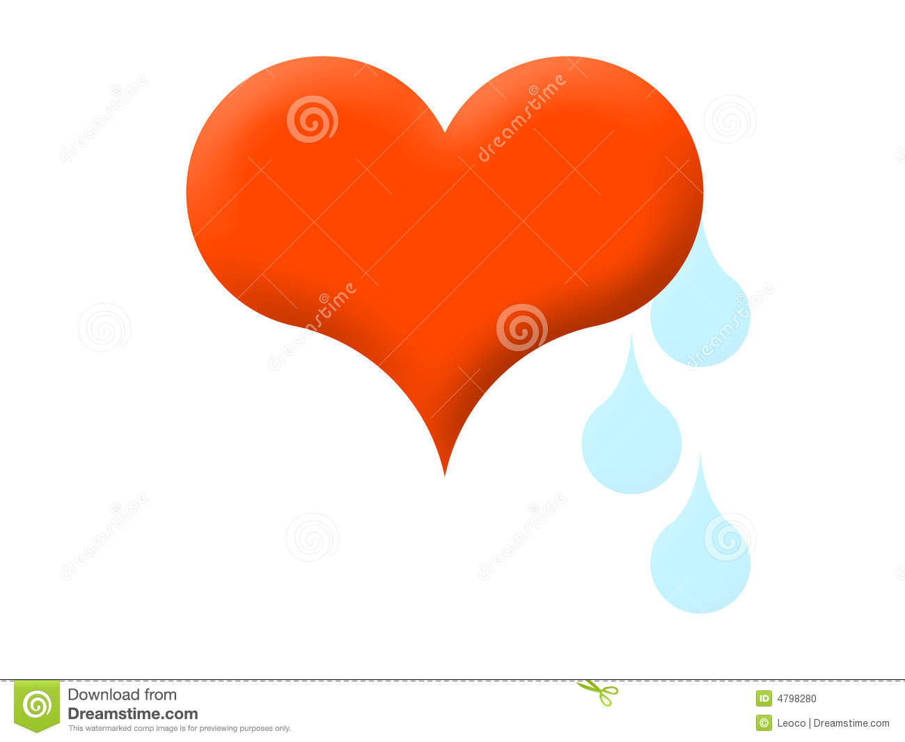 Heart And Tears Stock Illustration Illustration Of Tear 4798280