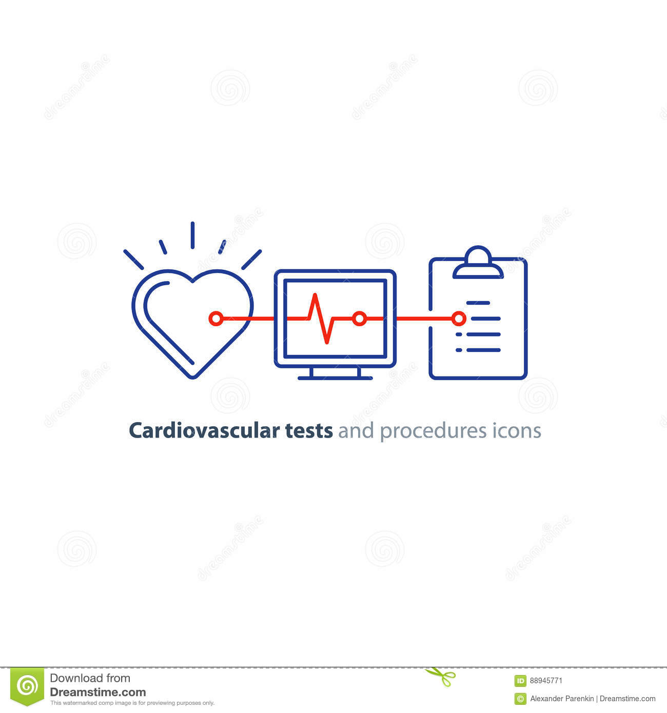 Heart test line icon electrocardiogram monitor logo cardiology download heart test line icon electrocardiogram monitor logo cardiology examination stock vector illustration ccuart Choice Image