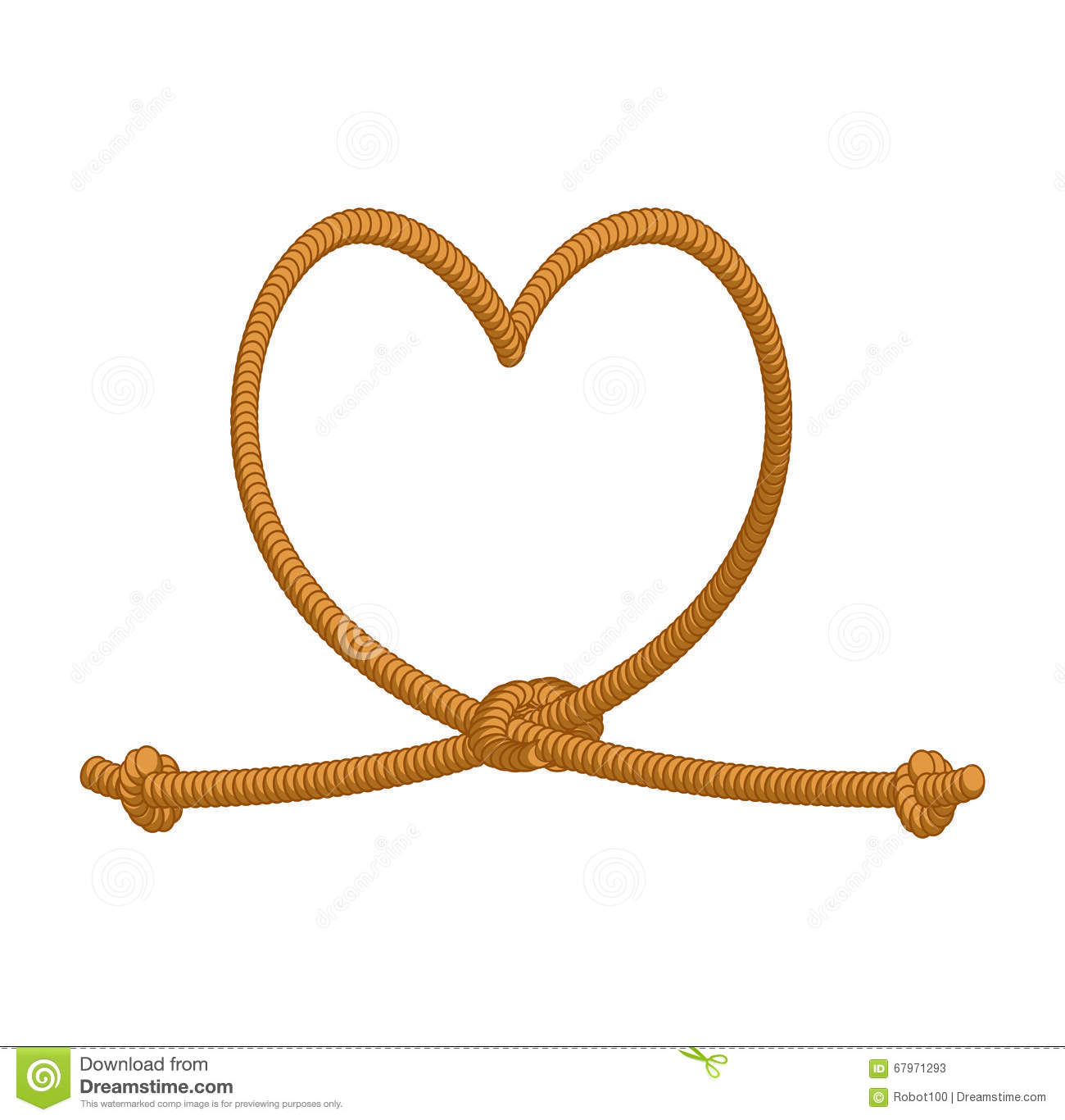 Heart Tie Rope Thick Rope Of Love Rope Love Symbol Of Eternal