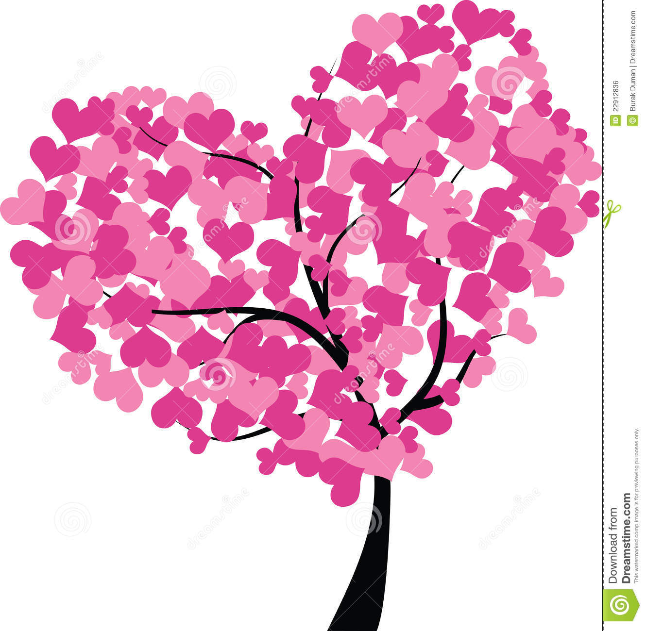 Heart tree royalty free stock image image 22912836 - Coeur a colorier ...