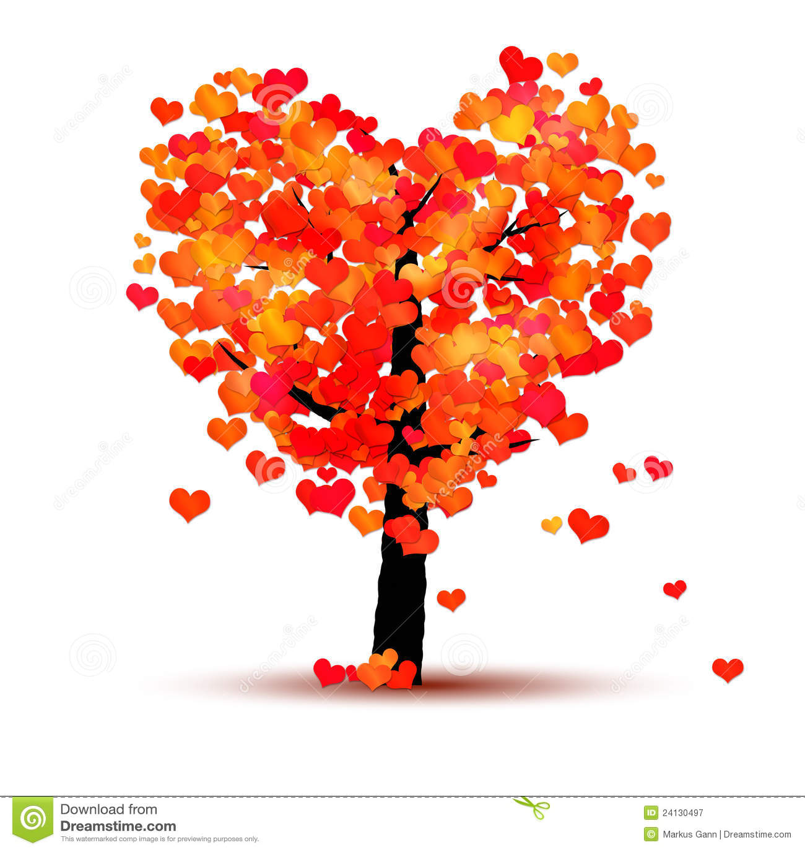 Heart tree stock illustration. Illustration of greeting ...