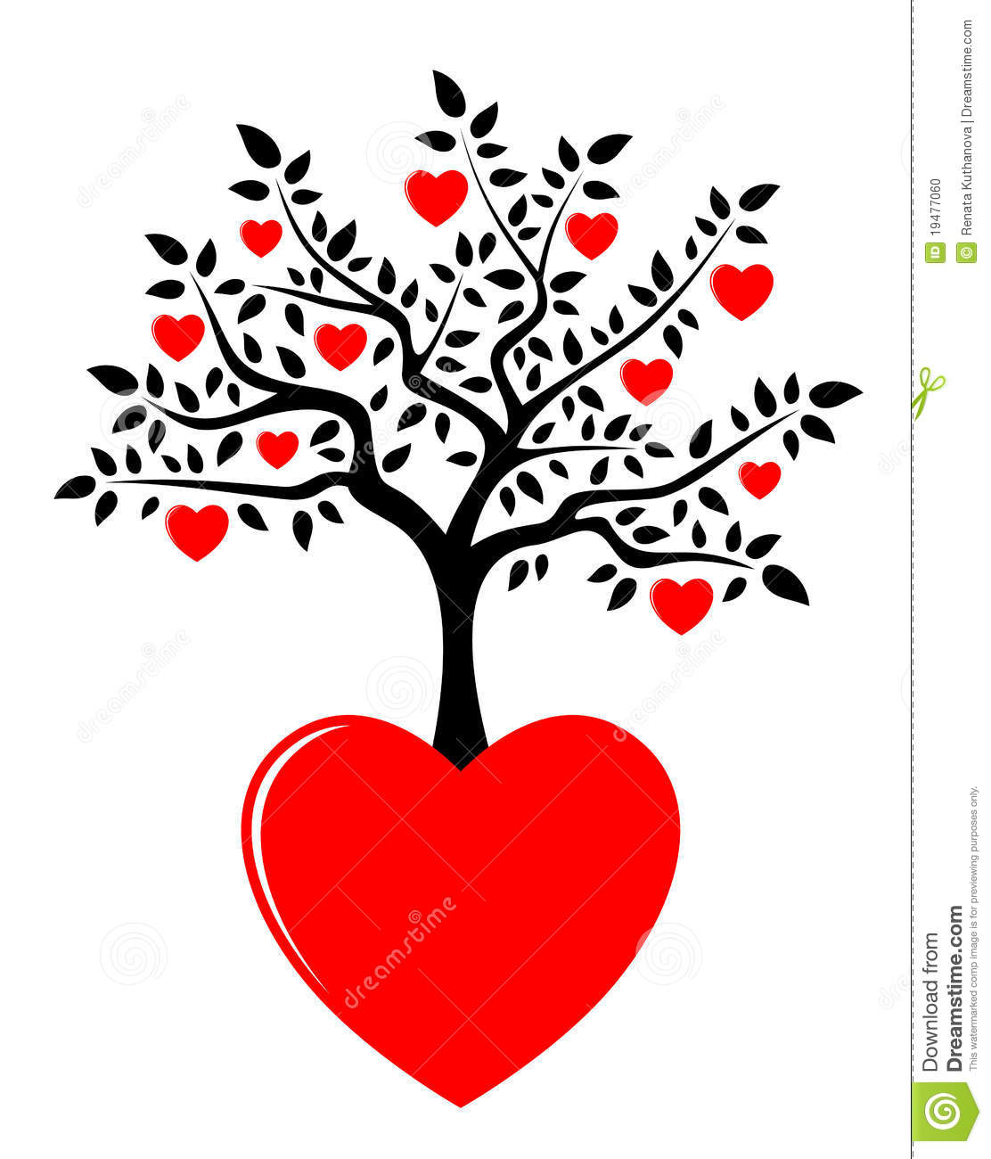 heart tree growing from heart stock vector illustration romance clip art with peach and grey color romantic clip art free