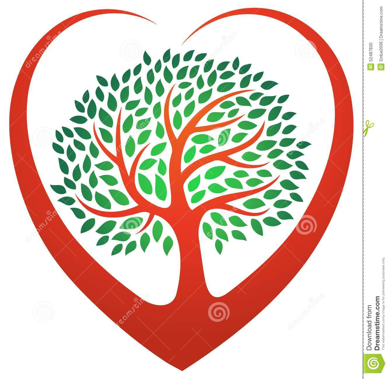 heart tree logo stock vector  image of loving  isolated