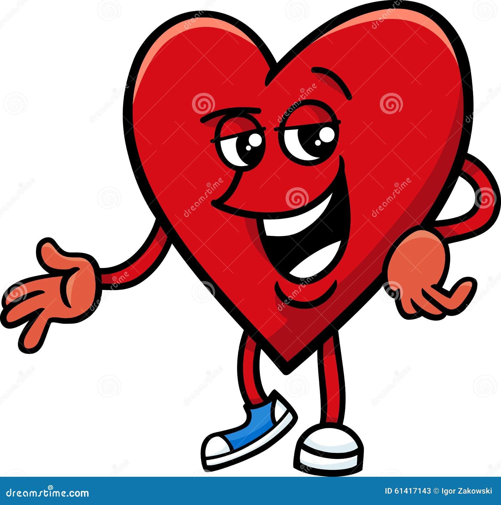 Cartoon Characters Valentines Day : Heart valentine cartoon character stock vector