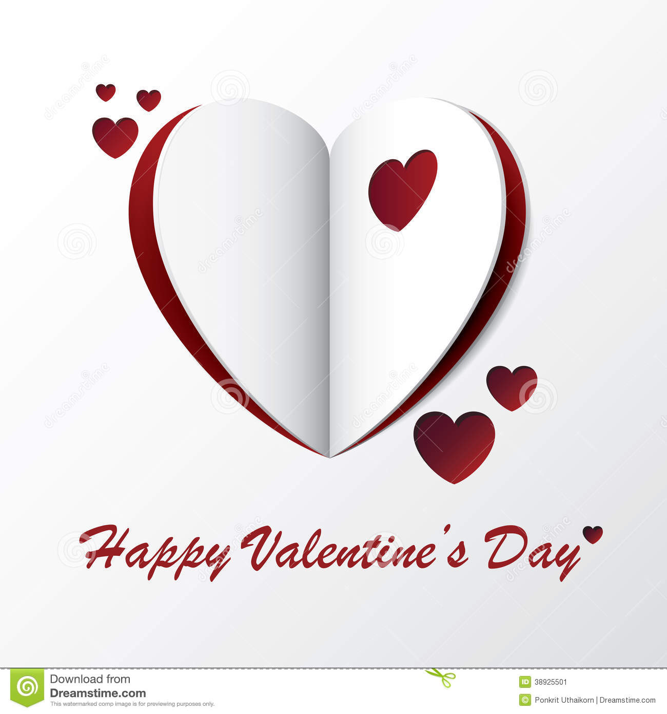 Heart valentine greeting card design stock vector image for Designs for valentine cards