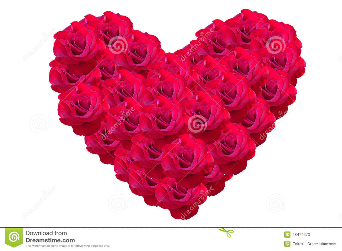 heart for valentine made from rose flowers. stock photo  image, Beautiful flower