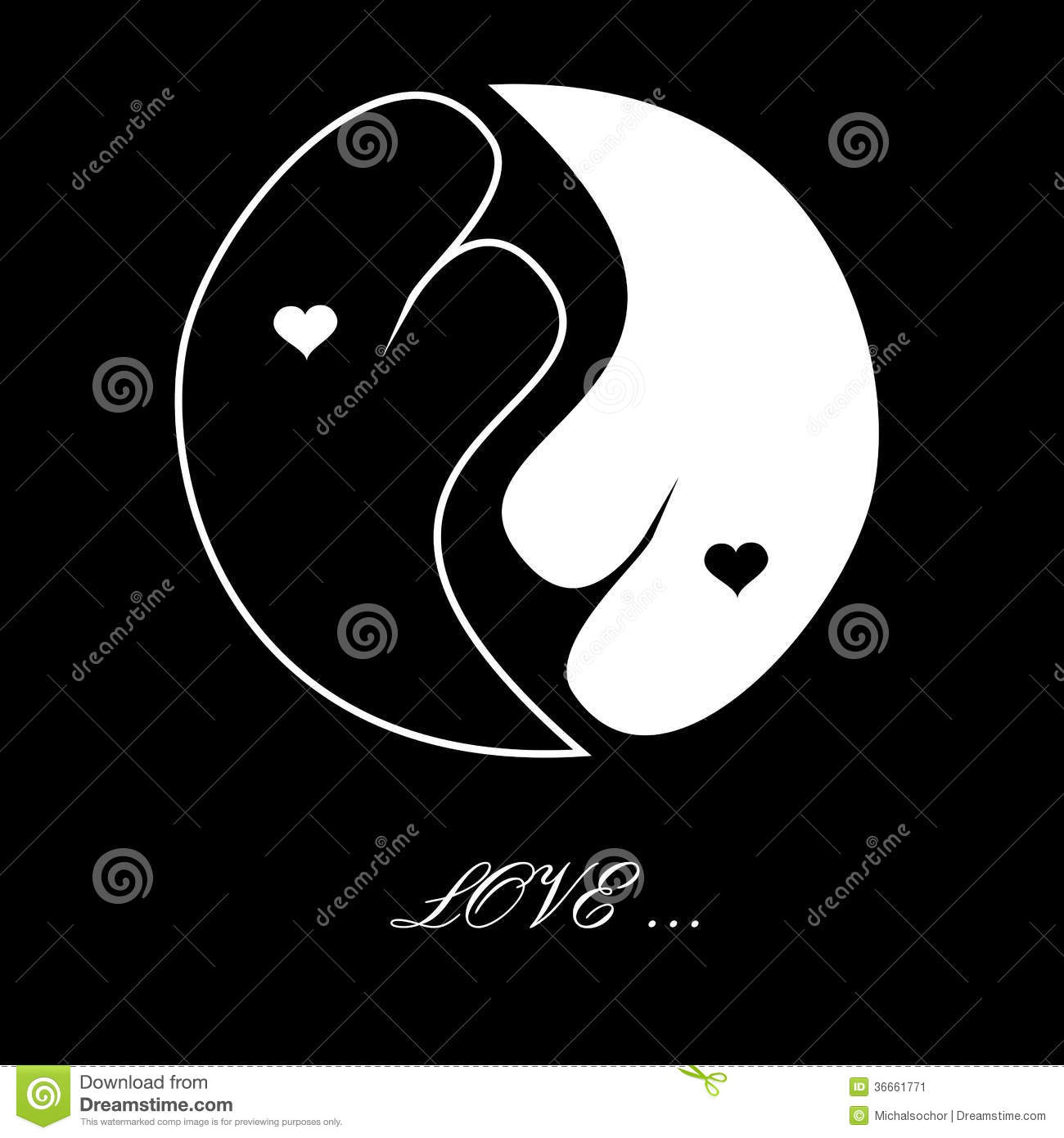 Heart Valentines Day Card Black And White Image Image – Black and White Valentines Day Cards